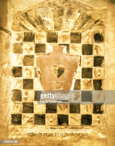 HEART IN HUMAN BACK & KEYS IN ABSTRACT : Stock Illustration