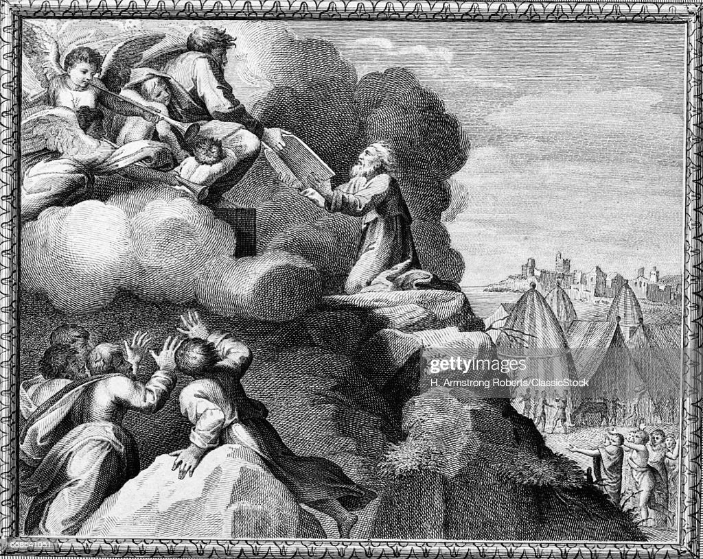 ENGRAVING OF MOSES...