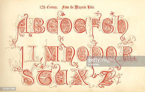 12th century lettering from the Mazarin Bible