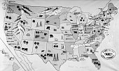 1930s 1940s MAP OF UNITED...