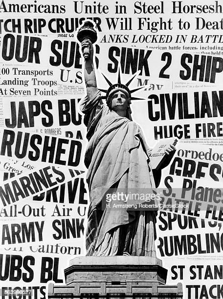 1940s MONTAGE OF WORLD WAR...