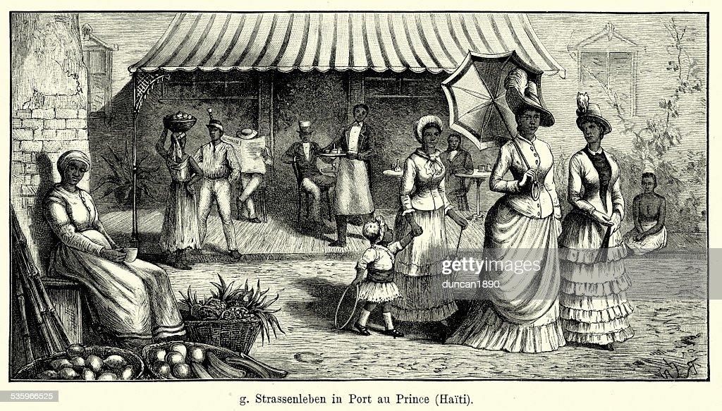 19th Century Haiti - Port-au-Prince : Stock Illustration