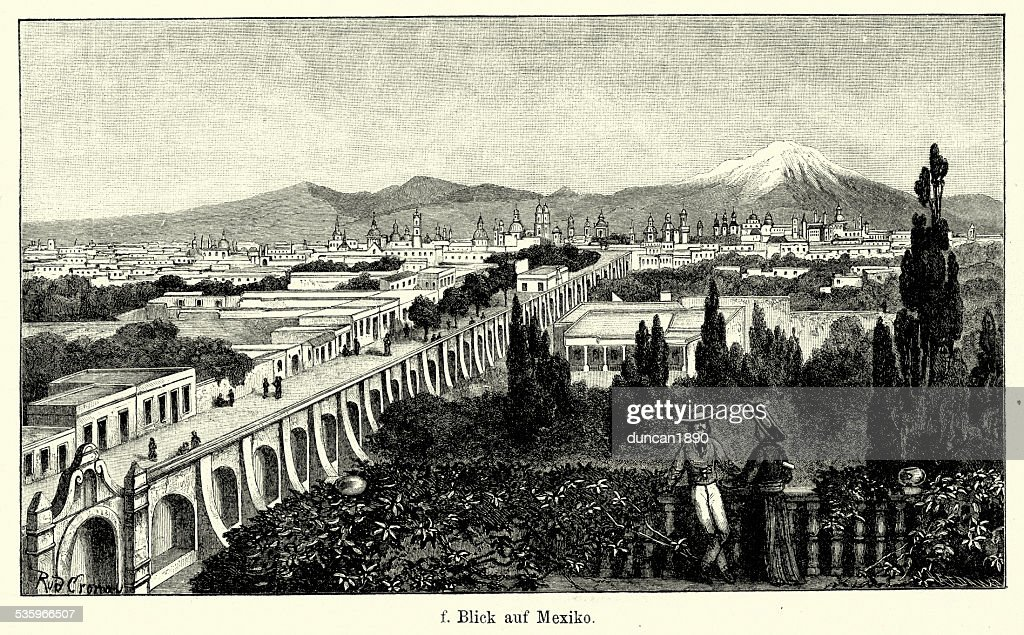 19th Century Mexico City : Stock Illustration