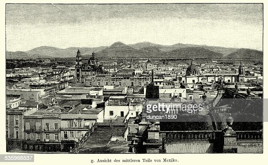19th Century Mexico City : Stock Illustration
