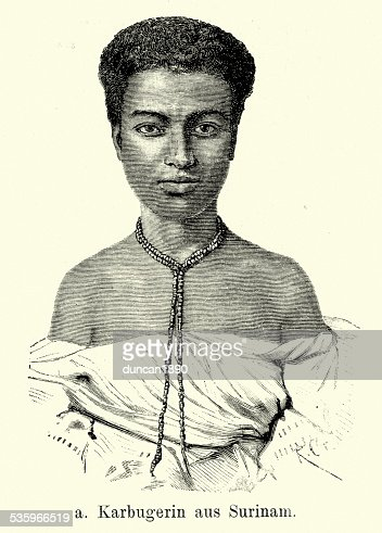 19th Century West Indies - Karbuger from Suriname : Stock Illustration