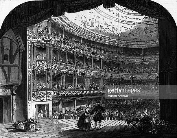 The interior of the Lyceum Theatre after it had been redecorated Original Publication Illustrated London News pub 1847 Original Artwork Engraving...