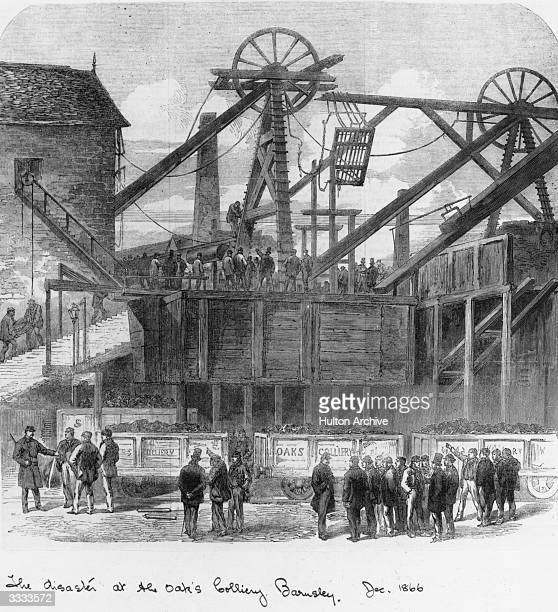 The disaster at the Oak's Colliery in Barnsley Original Publication Illustrated London News