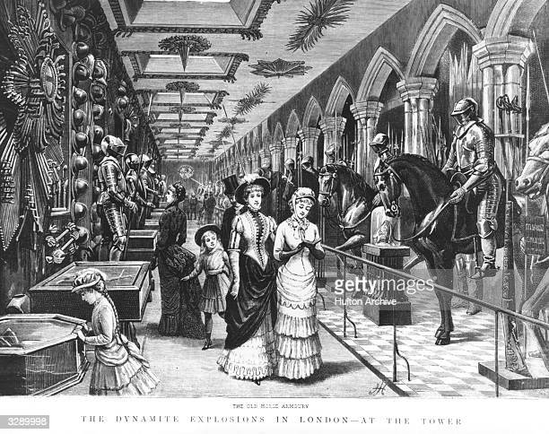 Visiting The Old Horse Armoury in the Tower of London Original Publication The Graphic The Dynamite Explosions In London At The Tower pub 1885