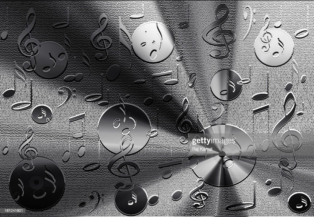 3d background with musical notes : Stock Illustration