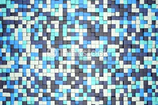 Illustration 3d Mosaïque Abstrait Couleur Bleu Turquoise