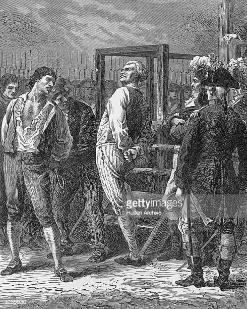 French Jacobin politician Georges Danton is led to the guillotine after being convicted of trying to overthrow the revolutionary government Opposed...