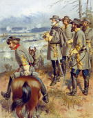 Confederate General Robert E Lee at the battle of Fredericksburg Virginia Lee was offered the command of the Union Army but although personally...