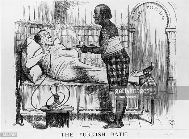 A cartoon satirising the position taken by British prime minister Benjamin Disraeli with regard to the Eastern Question and the suffering of the...