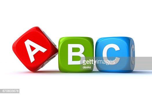 abc cubes : Stock Illustration