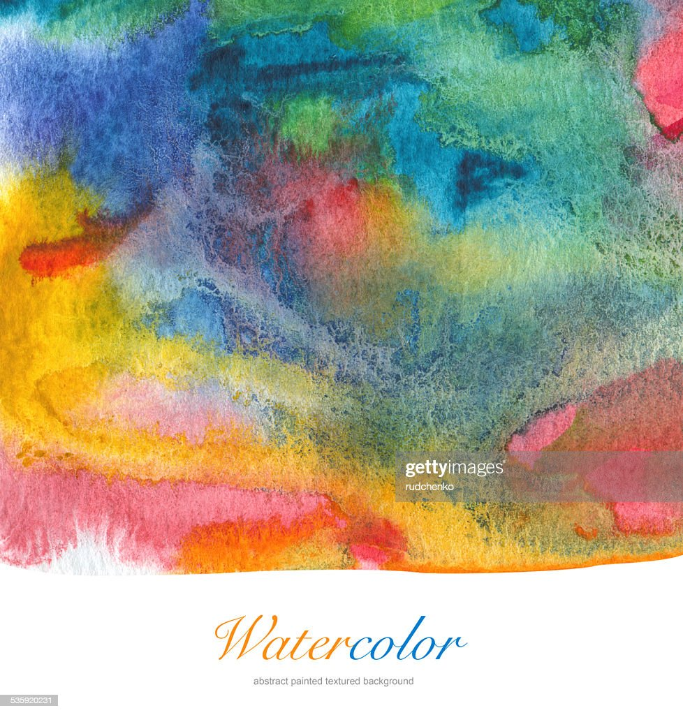 Abstract acrylic and watercolor painted background. : Stock Illustration