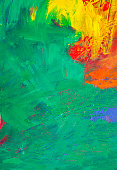 close up view abstract painting with