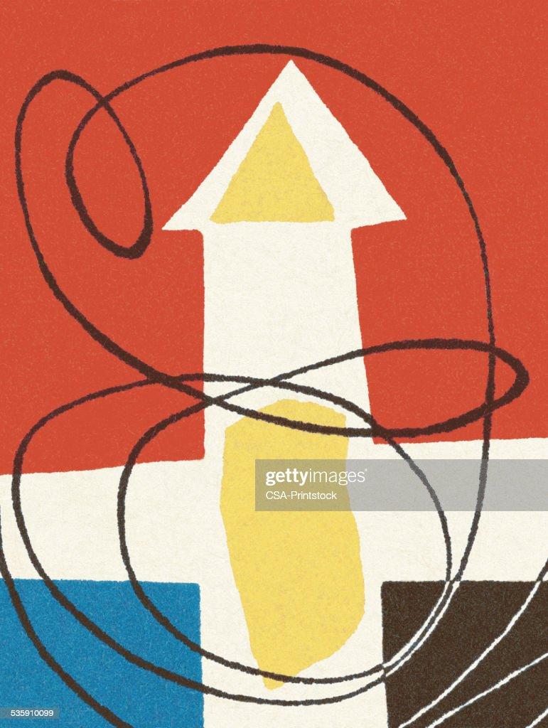 Patrón abstracto flecha : Ilustración de stock