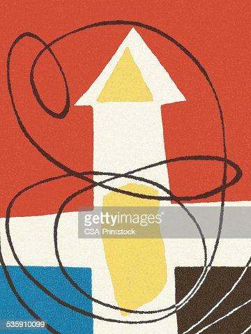 Abstract Arrow Pattern : Stock Illustration