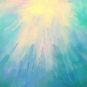 Abstract artistic watercolor painting sunshine colourful background