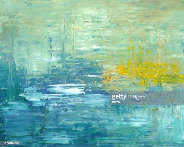 Abstract Background  in Turquoise Color