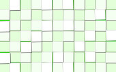 Abstract Background with Cubic Light Green Blocks