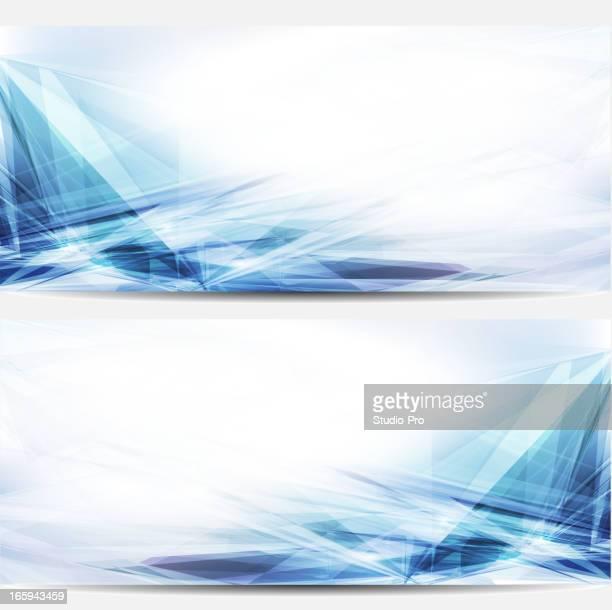 Abstracto azul negocios banners