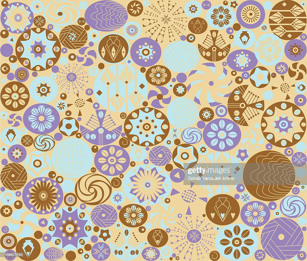 Abstract blue, purple, and brown pattern : Stock Illustration
