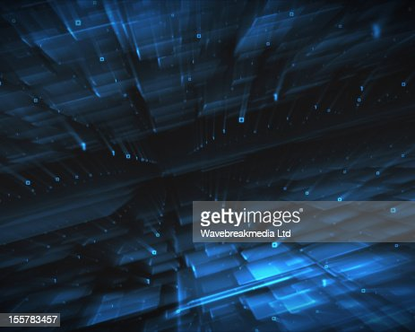Abstract blue squares : Stock Illustration