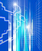 Abstract business networking image