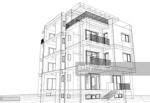 Abstract Construction Building Architecture Stock