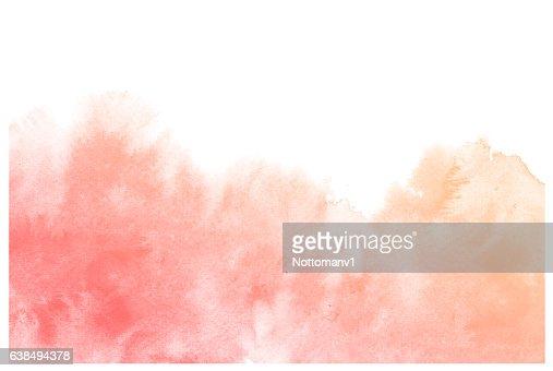 Abstract cream watercolor background. : Illustrazione stock