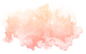 Abstract cream watercolor on white background.The color splashing on the paper.It is a hand drawn.