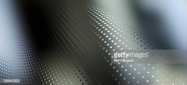 Abstract dot pattern with colored light