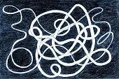 Abstract drawing, original hand drawn shapes