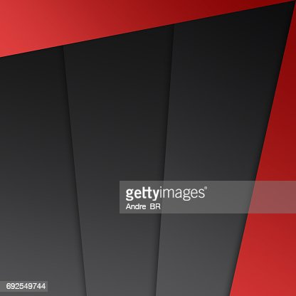 Abstract geometrical shape red grey black background : Stock Illustration