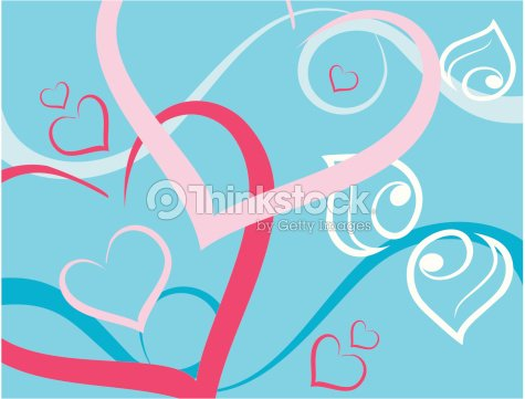 abstract holiday background with hearts ベクトルアート thinkstock