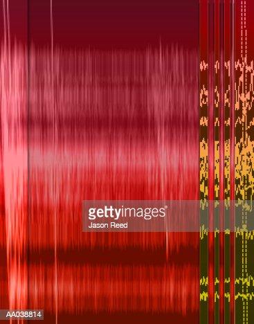 ECG Abstract : Stock Illustration