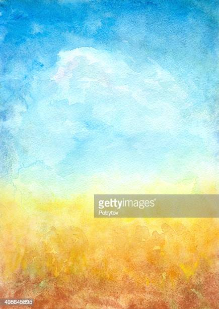 Abstract Landscape Background