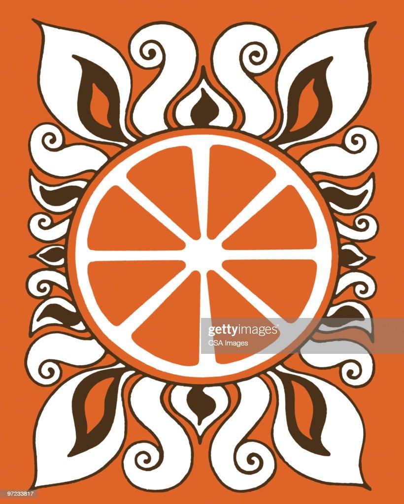 Abstract Orange Pattern : Stock Illustration