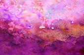 Abstract pink  watercolor background  -homemade  painting