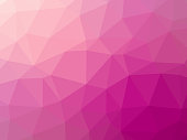 Abstract pink gradient low polygon shaped background.