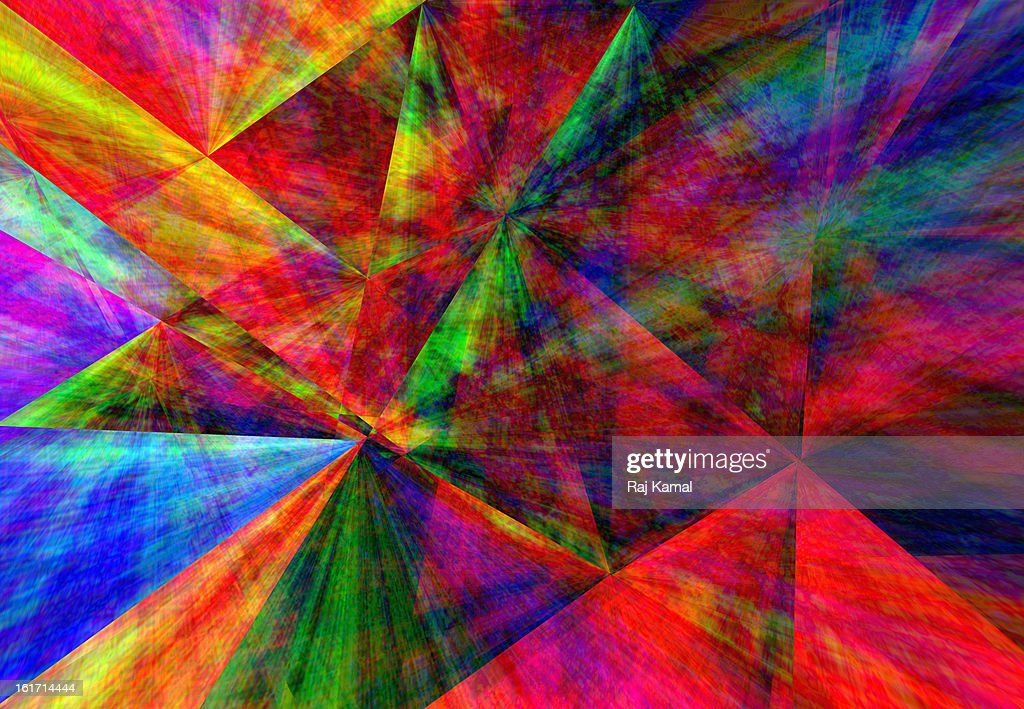 Abstract Prism with rainbow colors : Stock Illustration