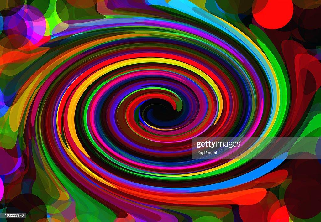 Abstract swirl rainbow background. Vector Digital : Stock Illustration