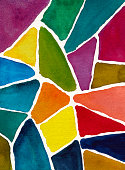 abstract watercolor background design mosaic