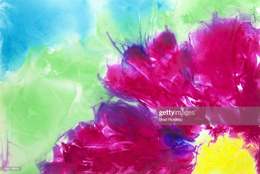 Abstract watercolor flower painting : Stock Illustration