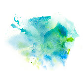 Abstract watercolor splash background. Artistic painting illustration on paper.