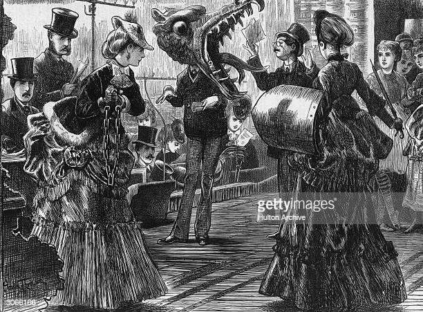 Actors on stage during a rehearsal for a pantomime Original Artwork Engraving by Gordon Thomson