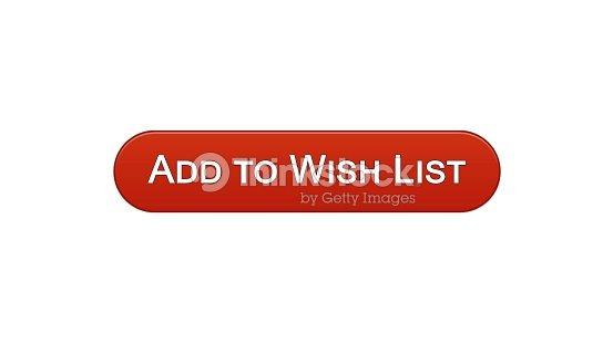Añadir A Lista De Deseos Web Interfaz Botón Vino De Color Rojo ...