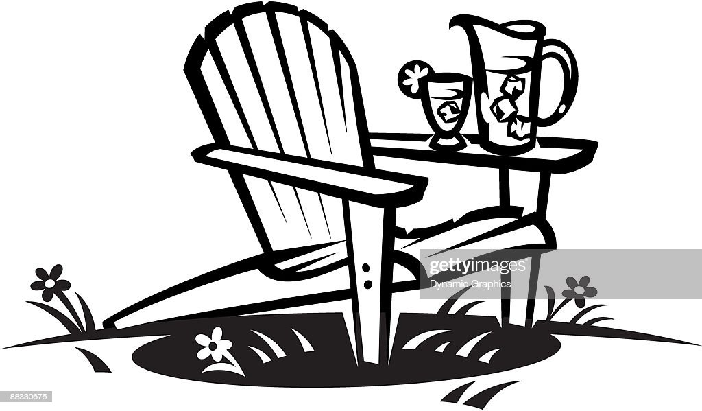 Marvelous Adirondack Chair : Vector Art
