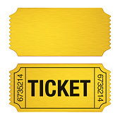 Admission Ticket isolated on white background. 3D render